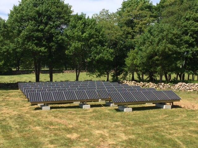 westport massachusetts residential ground mount solar installation