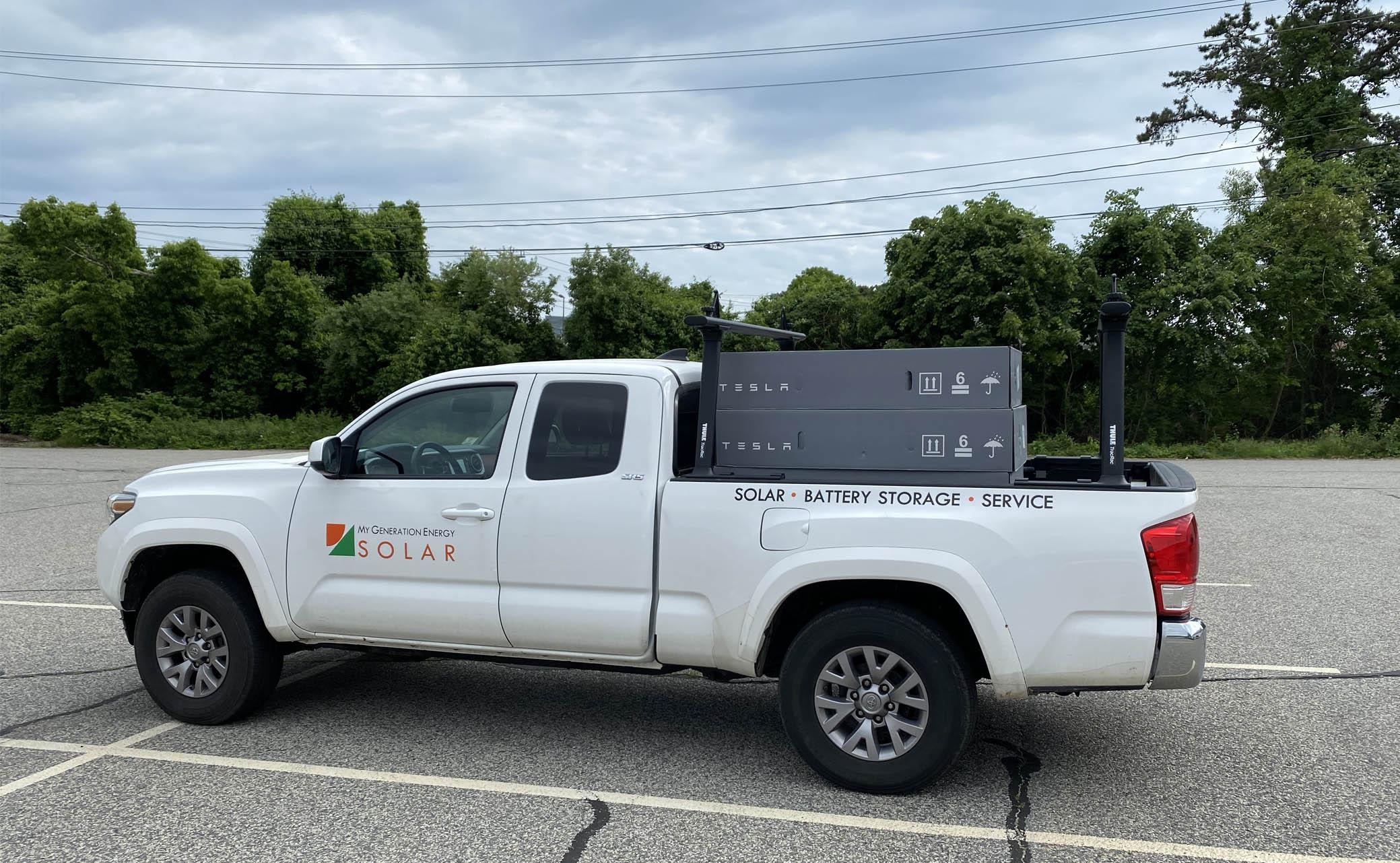 Tesla Powerwall My Generation Energy truck